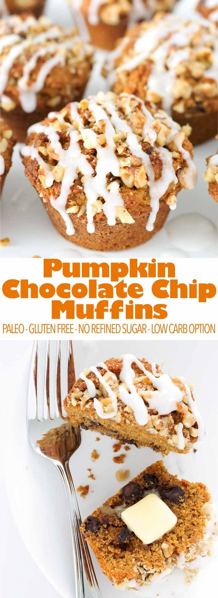 A seasonal favorite made healthy! These pumpkin chocolate chip muffins are easy to make, paleo, gluten free, and dairy free!