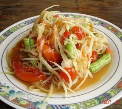 Thai papaya salad - definitely one of my favourites and absolutely magic with fish!