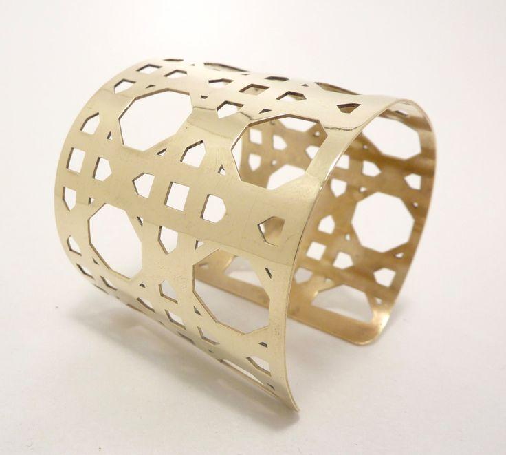 Fine Cane weave narrow cuff by SobeitStudio on Etsy