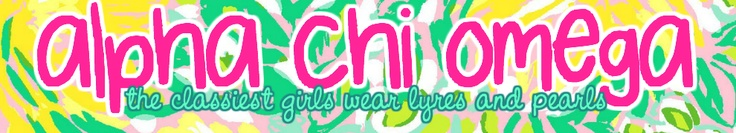Alpha Chi Omega, the classiest girls wear lyres and pearls.