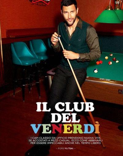 "Noah Mills in ""Il Club Del Venerdì"" (""Friday Club"") by Yu Tsai for GQ Italia August 2012 Issue"