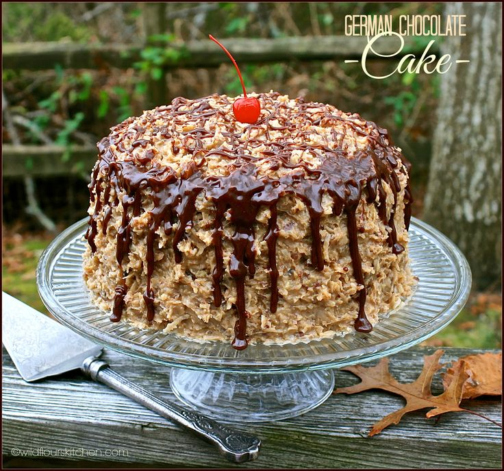 ~ German Chocolate Cake ~ Kicked Up from a Mix with Homemade Frosting!