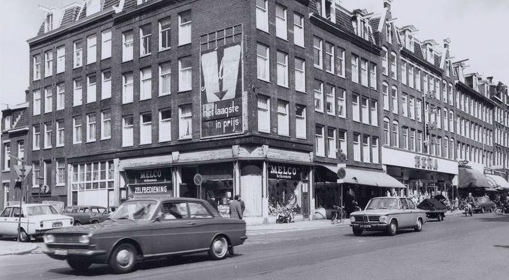 Kinkerstraat ter hoogte van de Tollenstraat, begin jaren zeventig. Foto: Beeldbank Amsterdam