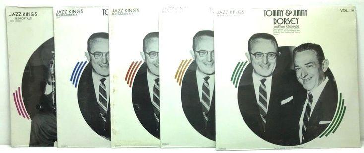 Tommy Dorsey Vol I II III IV Jazz Immortals + Coleman Hawkins Vinyl Record Album stores.ebay.com/capcollectibles