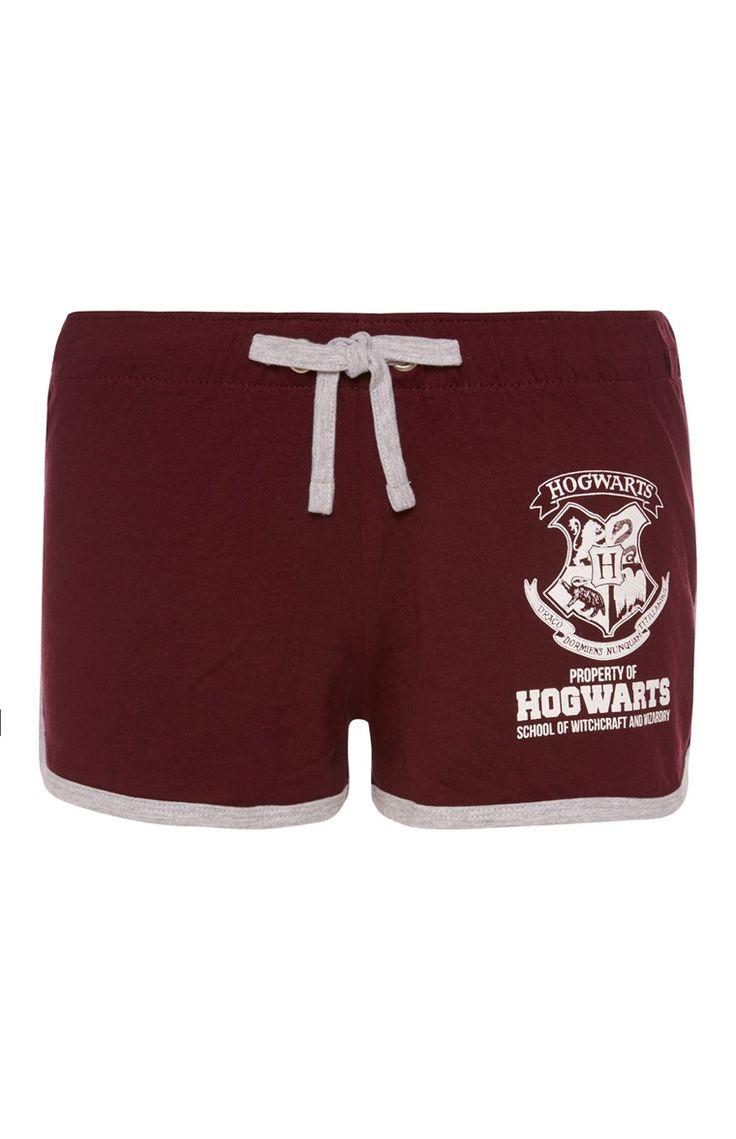 Primark - Burgundy Harry Potter Shorts