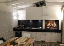 Attrezzare una parete per la cucinare a legna in famiglia in modo pratico, sempre con stile! Guarda le foto dei caminetti da cottura moderni