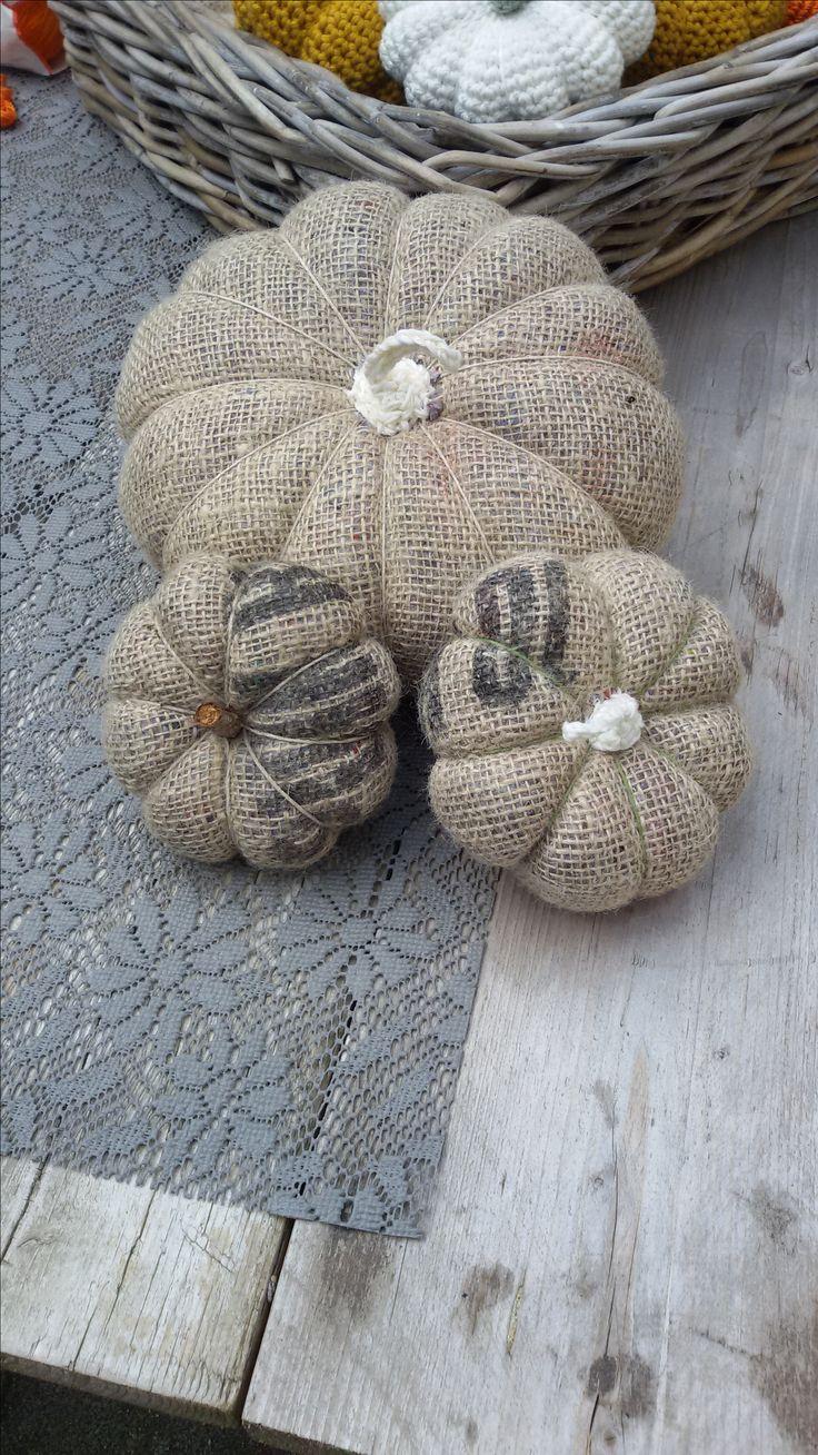 Pompoenen van jute