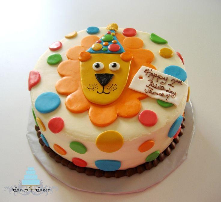 lion cake | First Birthday Lion Cake — Children's Birthday Cakes