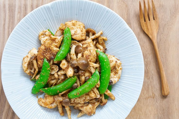 """This easy chicken stir-fry with savory mushrooms, crisp snap peas and ground sesame seeds was so easy and good I've already made it twice this week. Although it uses chicken breast, I employ a few tricks to ensure the meat stays juicy and flavorful. Head over to PBS Food for my full post and recipe … Continue reading """"Sesame Snap Pea Chicken"""""""