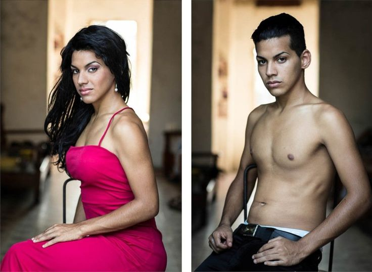 Beautiful Cuban Transsexuals - Before and After Sex Change