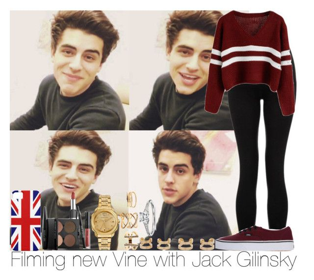 Filming new Vine with Jack Gilinsky by irish26-1 on Polyvore featuring polyvore, fashion, style, Lipsy, Vans, Versace, Maison Margiela, Charlotte Russe, Blue Nile and MAKE UP FOR EVER