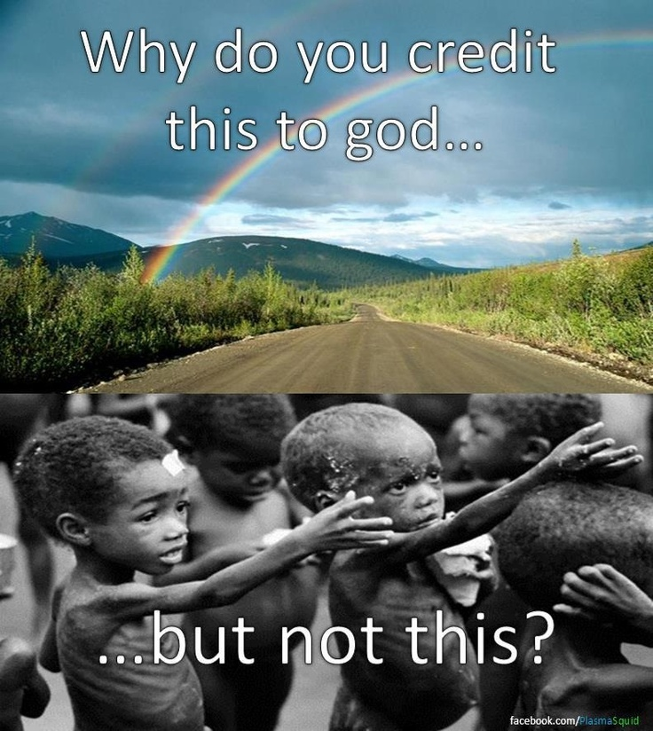 Because humans create and sustain systems of poverty, but if you know someone who makes rainbows I'd love to meet them :)