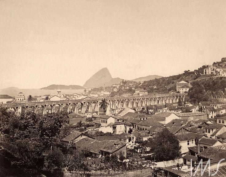 Georges Leuzinger - 1865 - Arcos da Lapa, Sta Thereza e Glória