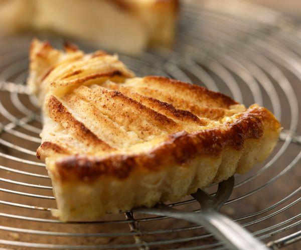 Touche sucrée avec cette #tarteamandine pommes et cannelle