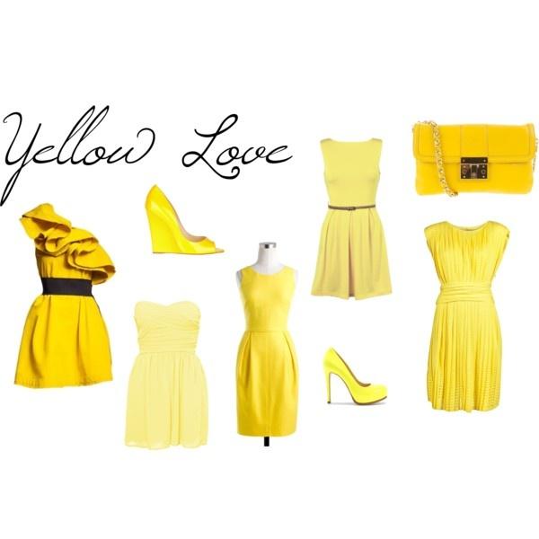 cute cute yellow dresses