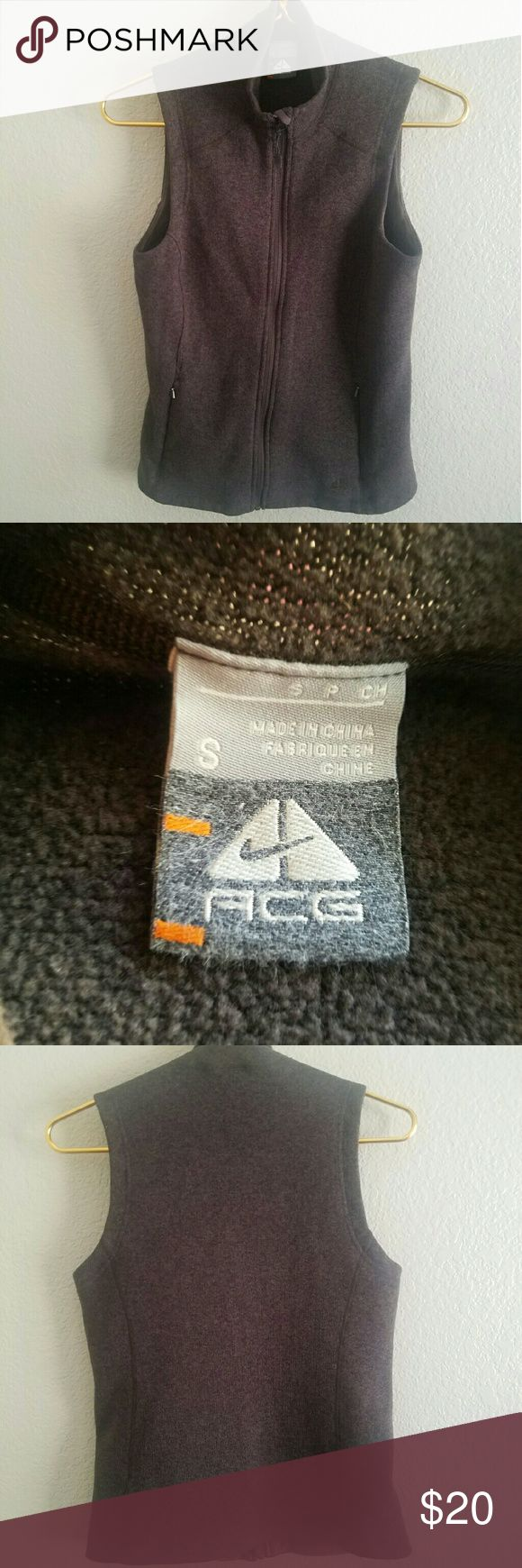 Nike ACG Women's Vest Similar style to Patagonia's Better Sweater. Nike's ACG  (All Conditions Gear) is their outdoor line. Size small. Good condition. Nike Jackets & Coats Vests