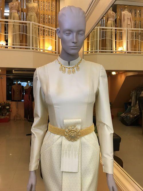 ชุดไทยบรมพิมาน เลือกชุดไทย ชุดตักบาตร ชุดงานเช้า ชุดไทยแขนยาว เจ้าสาว