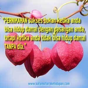 """Kata Mutiara Islami : """"Pernikahan sukses bukan ketika anda bisa hidup damai dengan pasangan anda, tetapi ketika anda tidak bisa hidup damai tanpa dia"""""""
