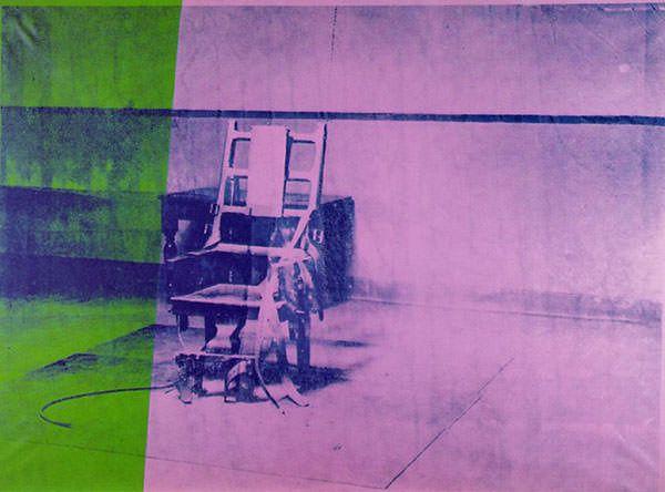 """Big Electric Chair"", 1967. Andy Warhol."
