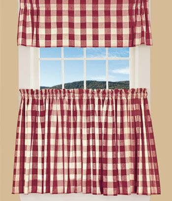 Buffalo Check Tier Curtains This Is It Pinterest