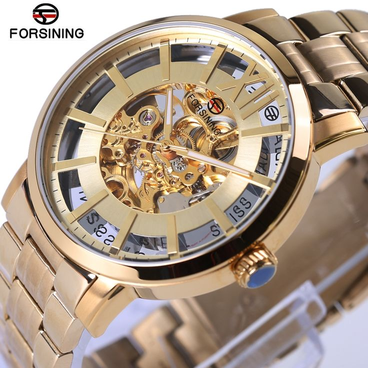 3155dcef989 76.99  Buy here - Forsining Automatic Mens Watches Top Brand Luxury Golden Fashion  Style Stainless