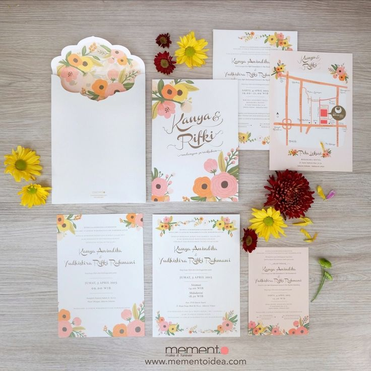 Love and Flower Wedding Invitation by memento
