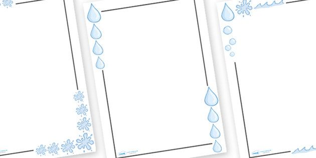 Water Page Borders