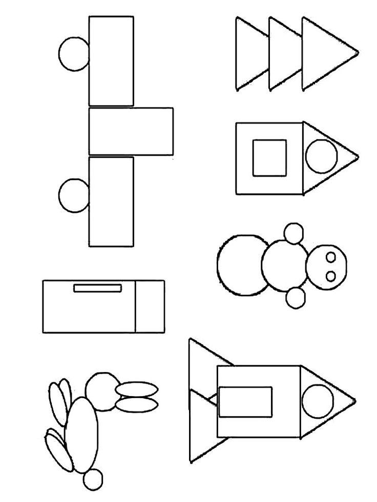 Раскраски Геометрические фигуры | Vormen