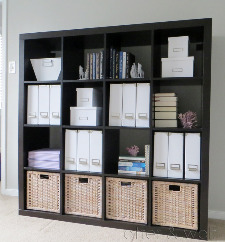 Office Bookcase, Styled and Organized