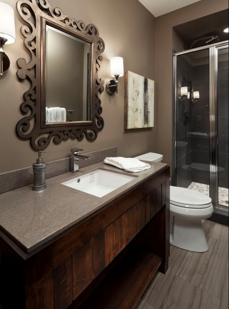 25 best ideas about gray brown paint on pinterest brown room decor brown paint and brown - Bathroom design colors ...