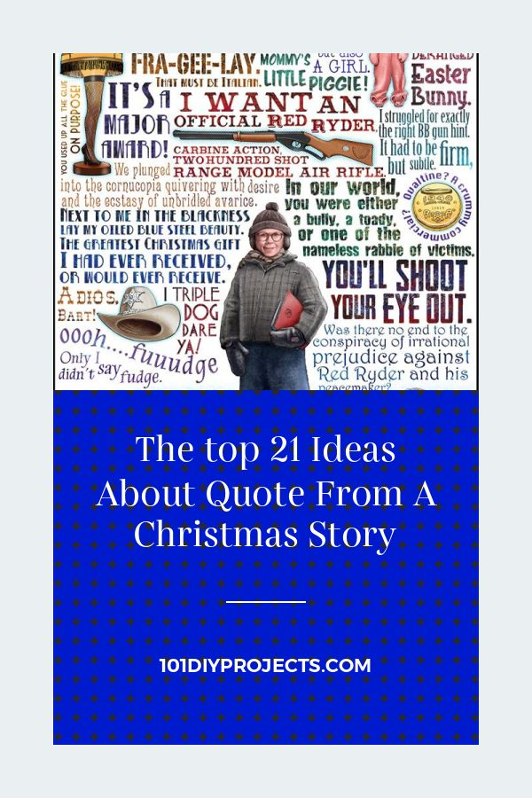 The Top 21 Ideas About Quote From A Christmas Story