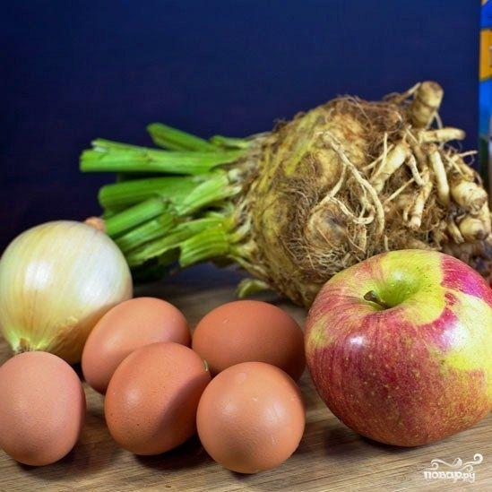 Салат из сельдерея с яблоками и яйцами - пошаговый кулинарный рецепт с фото на Повар.ру