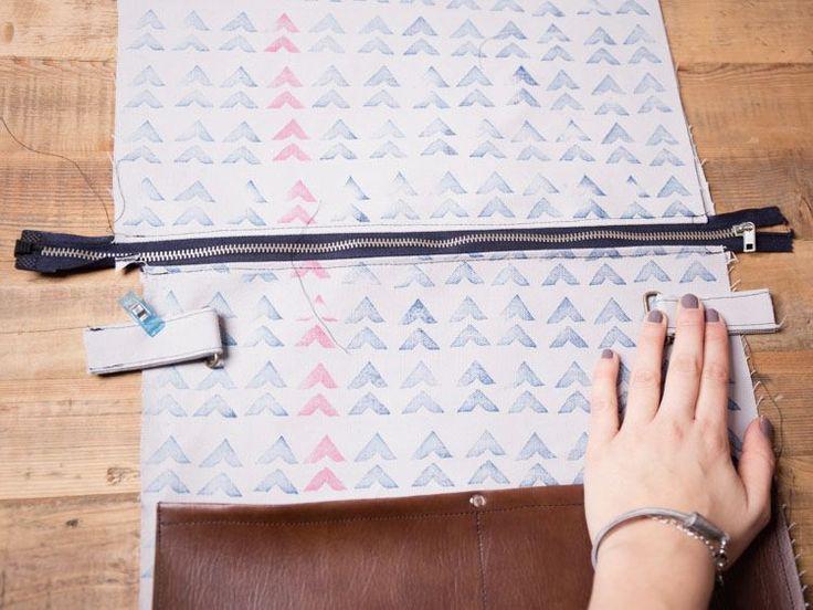 DIY-Anleitung: Bedruckte Tasche mit Lederriemen nähen via DaWanda.com