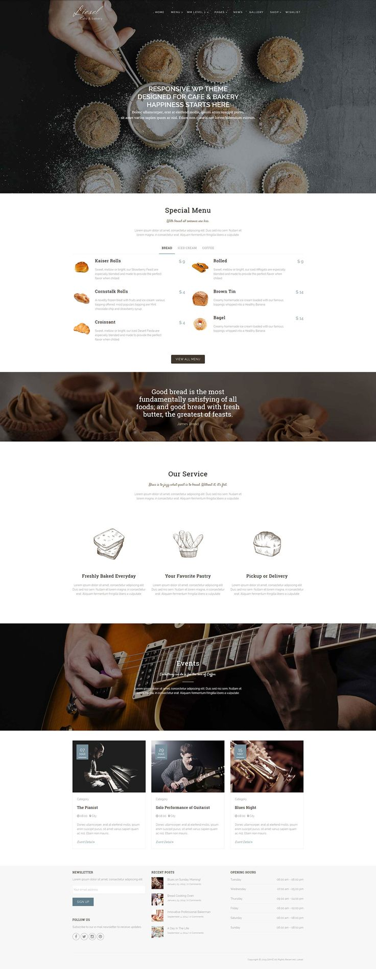 Liesel - Cafe, Dining and Bakery Wordpress Theme - WordPress | ThemeForest