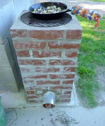 I love this sustainable living blog and I really want to make this outdoor rocketstove this spring.