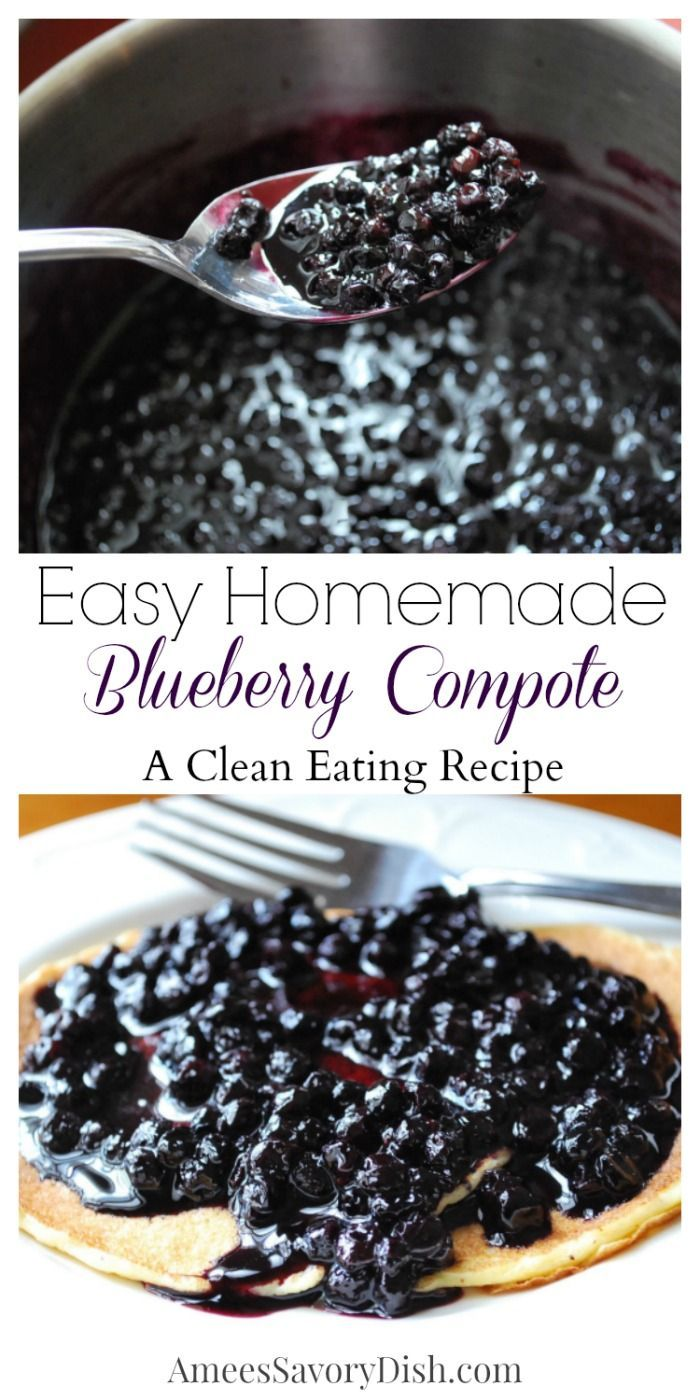 Easy Homemade Blueberry Compote recipe