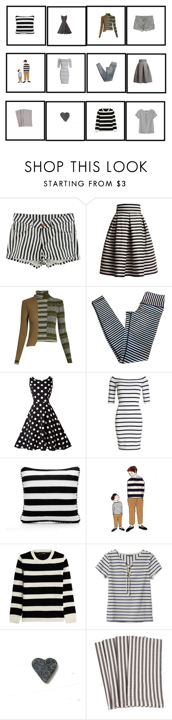 """""""Black and white"""" by talma-vardi ❤ liked on Polyvore featuring H&M, Rumour London, Maison Margiela, lululemon, Superdry, SCENERY, The Kooples and L.L.Bean"""
