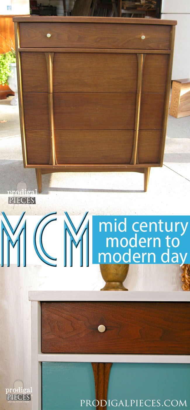 Modern Style To A Mid Century Piece. Diy Furniture ProjectsFurniture  MakeoverPaint ...