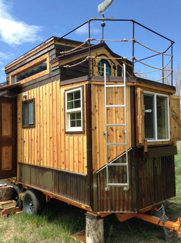 17 best ideas about tiny houses for sale on pinterest for Rv with balcony