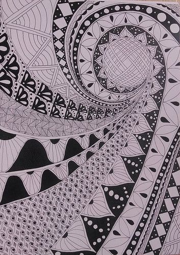 Zentangle Inspired Art.