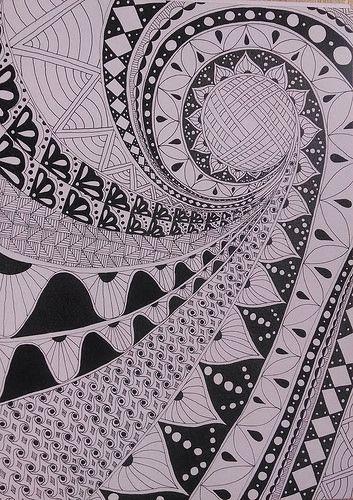 Zentangle Inspired Art.