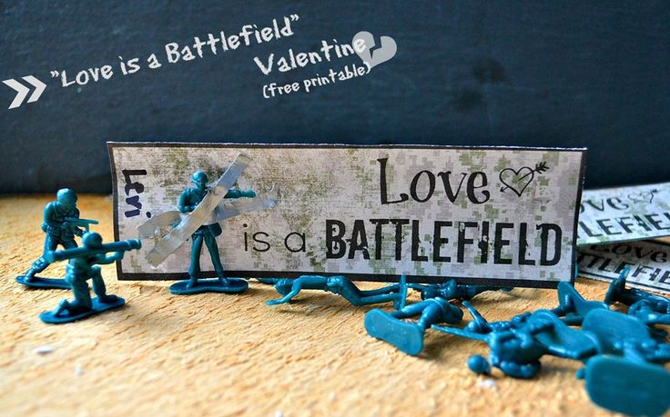 Love is a battlefield classroom valentine {+ free printable}