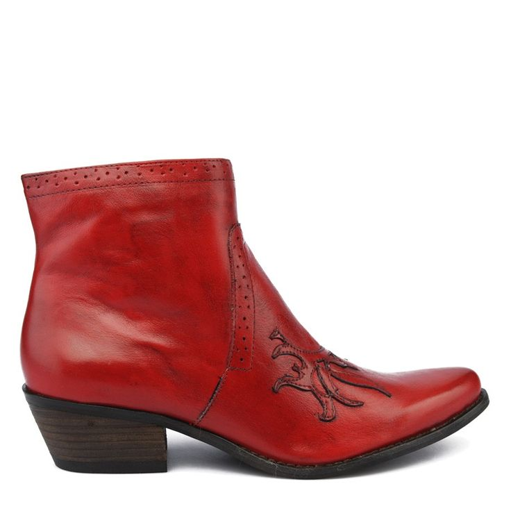Boots Santiag femme - Rouge - AXELL - 52832 X