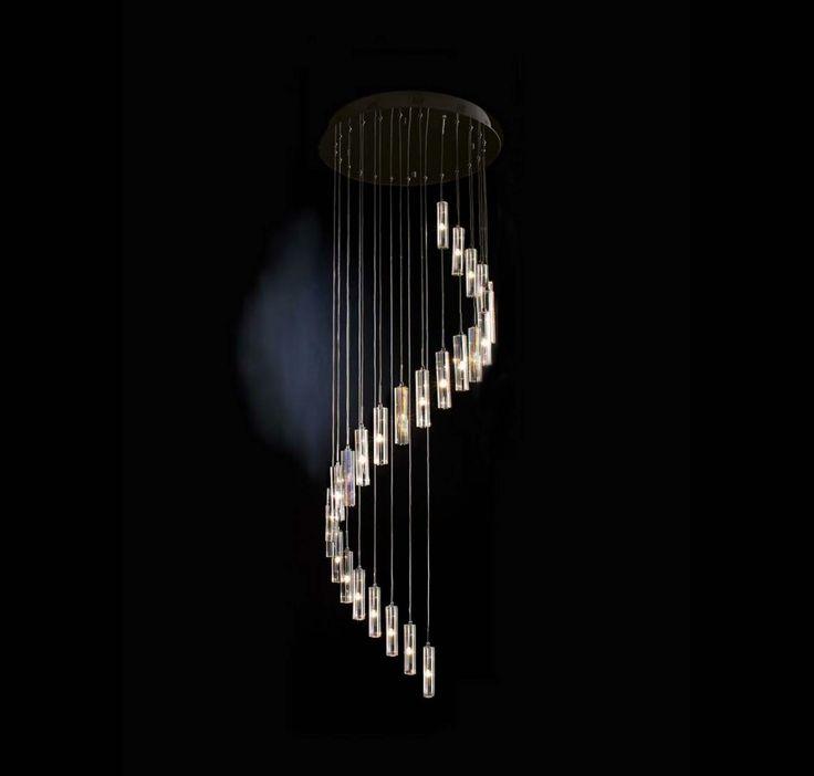 Trend Lighting 25-Light Round-Cut Spirale Pendant in Ceiling Lights, Pendants, Ceiling Pendants: LightsOnline.com