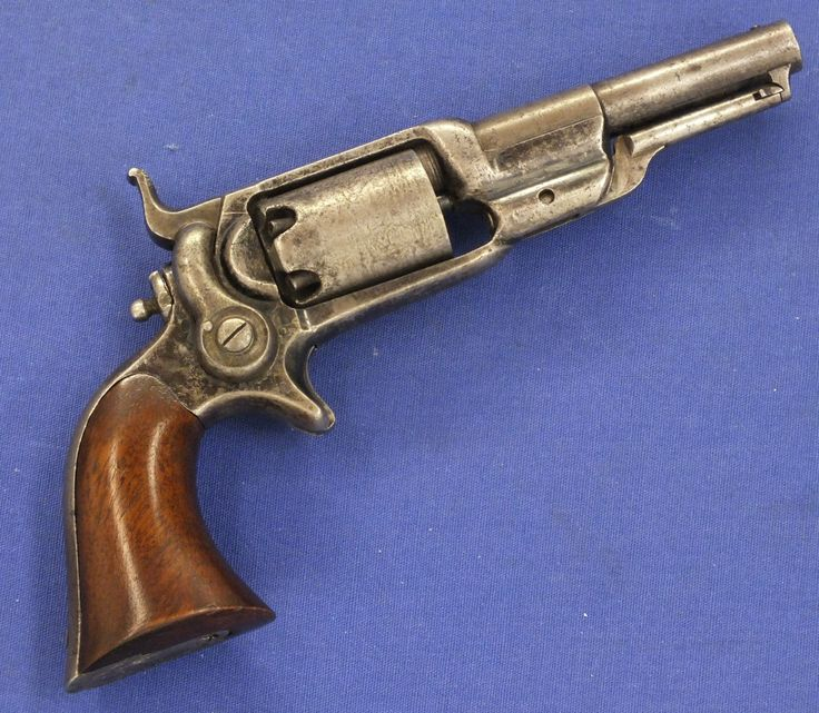 """A very nice antique Colt """"Root"""" model 6, 1855 Sidehammer Pocket Percussion Revolver, caliber .31, Number 10456, in very good condition. Price 1.325 euro. Signed COL COLT NEW YORK U.S.A."""