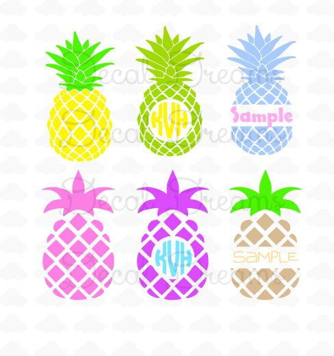 Pineapple Digital Cut File Svg Dxf Pineapple By