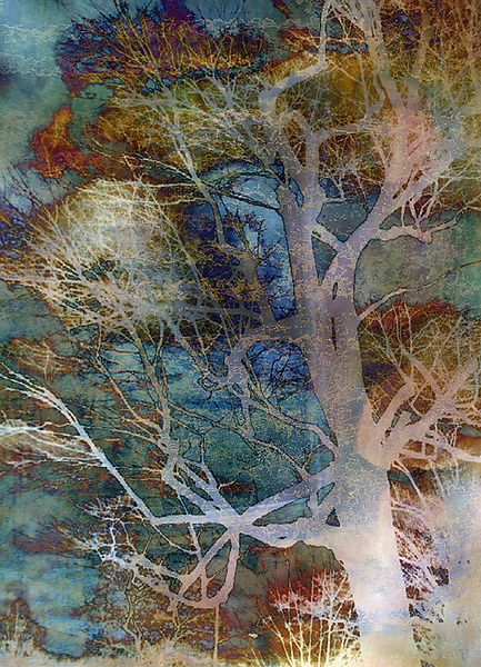 Sunset Tree #2 by Joanie San Chirico: Fiber Wall Art - STUDIO SALE available at www.artfulhome.com