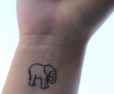 Small Elephant Tattoo on Wrist - Tattoo Shortlist