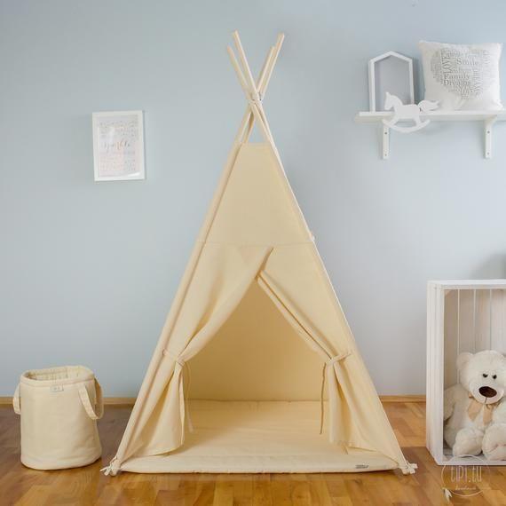 Tipi Bezowy Tipi Dzieci Tipi Playtent Zelt Wigwam Namiot Dzieci Tipi Wysokiej Jakosci Tipi Tipi Namiot Dzieci