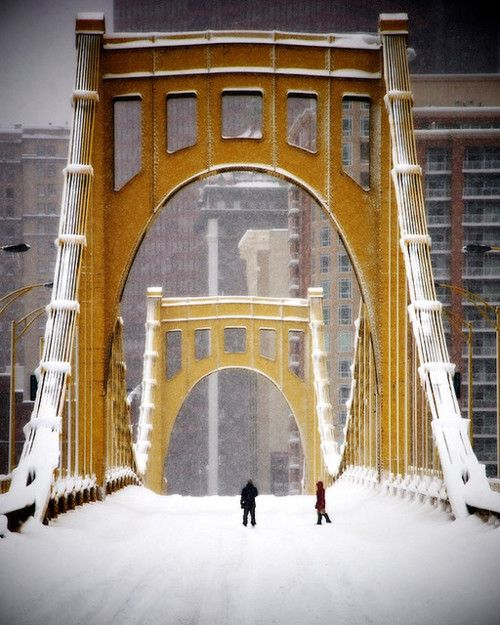 PA winter. View more Pittsburgh Bridges at http://www.oneburgh.com                                                                                                                                                     More